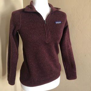 Burgundy Patagonia 1/4 zip Better Sweater